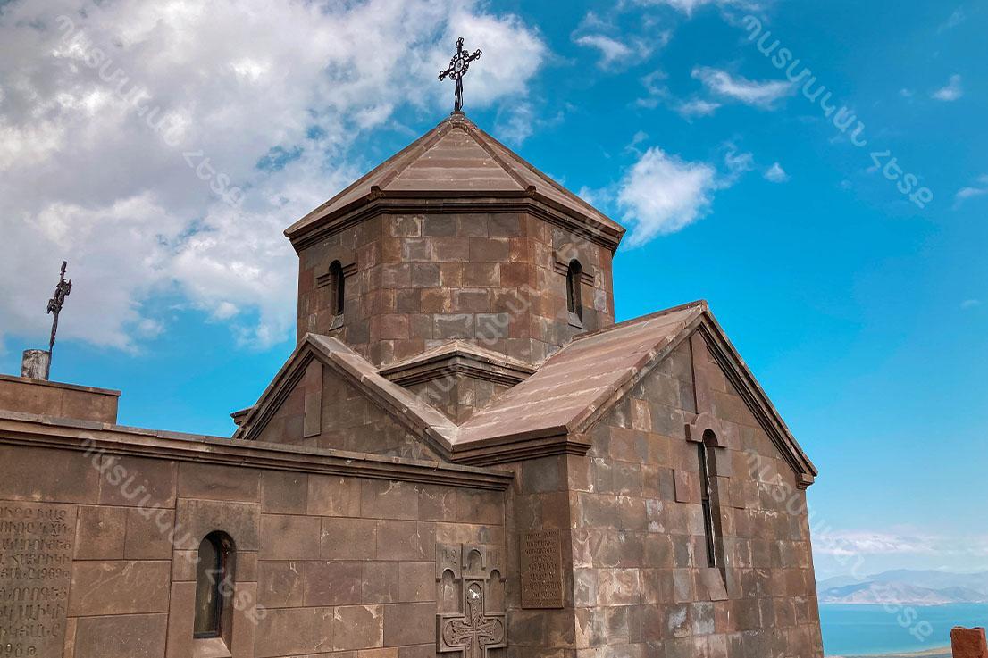 Holy Cross Church in Holy Cross mountain of Geghama mountain range